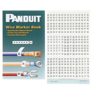 Panduit PCMB-14 Wire Marker Book, Vinyl Cloth, 46 thru 90, 10 Pages