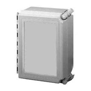 "nVent Hoffman A12106CHQRFG Junction Box, NEMA 4X, Hinged Cover, 12"" x 10"" x 6"""