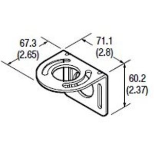 Allen-Bradley 60-2421 Mounting Bracket, Right Angle, 360D Sensor Rotation, 60mm Base