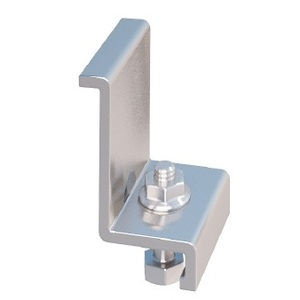 IronRidge 29-7000-165 End Clamps with Hex Bolts and Flange Nuts, Mill Finish, Anodized Aluminum. For use with 1.62-1.68 inch (41.1-42.7mm) thick modules, Order of 1 Each = Pack of 4