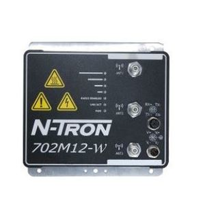 N-TRON 702M12-W Wireless Radio, Industrial, 3 MIMO Antennas, Bulkhead Mount, IP67
