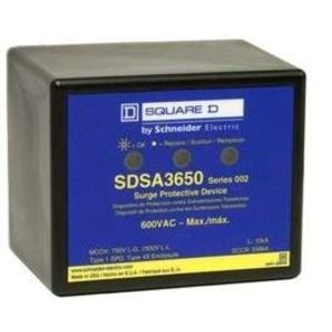 Square D SDSA3650 Surge Arrestor, 600VAC, 3PH, MOV, Thermoplastic