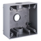 Hubbell-Raco 5341-0B Weatherproof Outlet Box, 2-Gang, Die Cast Aluminum