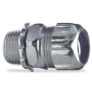 "Thomas & Betts 5232 Liquidtight Connector, Straight, 1/2"", Steel"
