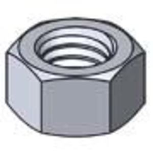 "Harrison & Bonini Fastening Hardware HNS-3816 Finished Hex Nut, 3/8"", Stainless Steel"