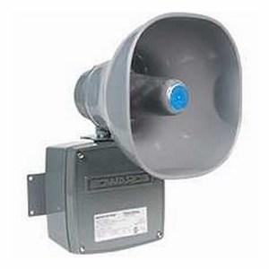 Edwards 5530M-24AQ Horn, Multi-Tone Signal, 24V AC/DC, .10A, 123dB @ 10', Gray