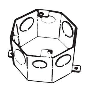 "Steel City 54551-1/2-&-3/4 4"" Octagon Concrete Box, 3"" Deep, Drawn, 1/2 - 3/4"" KOs, Steel"