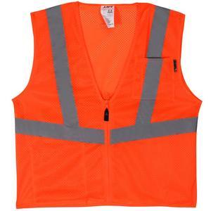 Lift Safety AVV-10E1L Safety Vest, Viz-Pro - Size: X-Large, Orange