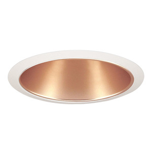 "Juno Lighting 232-WHZWH Reflector Trim, w/ Torsion Springs, 6"", Wheat Haze Refl/White Trim"