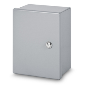 "Austin Electrical Enclosures AB-14128SM Pull Box, NEMA 1, Continuous Hinge, 14 x 12 x 8"", Steel/Gray"