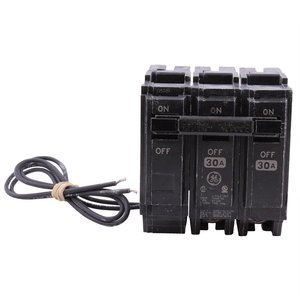 GE THQL2130ST1 Breaker, 30A, 2P, 120/240V, 10 kAIC, Shunt Trip 120VAC