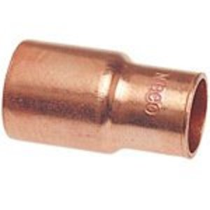"""NIBCO 9008300 Reducer, Type: FTG x C - WROT, Size: 1 x 3/4"""", Copper"""