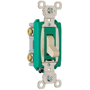 Pass & Seymour PS30AC2 Toggle Switch, 2-Pole, 30A 120/277VAC, Brown