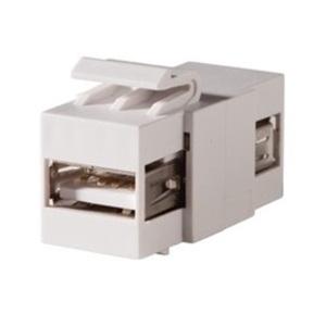 Ortronics KSUSBAA KEYSTONE,USB 2.0 A-A,F/F FOG WHITE