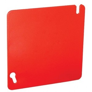 "Garvin Industries 52C1-RED 4""SQ.FLT BLNK COVER FIRE RED"