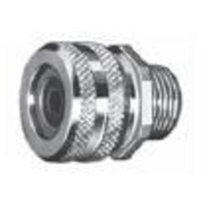 """Appleton CG-87100 Liquidtight Strain Relief Connector, 1"""", Straight, Aluminum"""