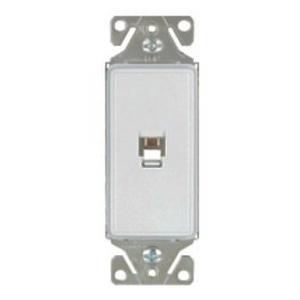 Eaton Arrow Hart 9545-4SG PHONE JACK ASPIRE DECO SGL 4 COND SG