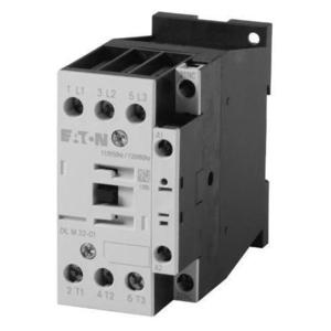 Eaton XTCE018C10TD Contactor, IEC, 18A, 24VDC Coil, 3P, Frame C, 1NC Auxiliary Contact