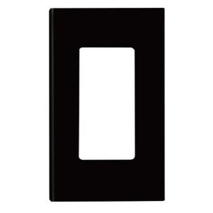 Leviton 80301-SE Screwless Decora Wallplate, 1-Gang, Polycarbonate, Black