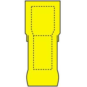 3M MTI10-250Q Male Tab, Nylon-Insulated, WR: 12 - 10,  Mates with 0.25-in wide female tab