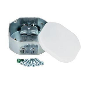 "Westinghouse Lighting 0105011 4"" Octagon Ceiling Box, 1-1/2"" Deep, KOs, Metallic"