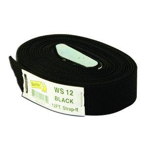 Dottie WS12 12' Web Strap w/ Buckle, Nylon - Black