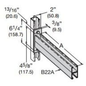 Eaton B-Line B297-24ZN DOUBLE CHANNEL BRACKET, 24-IN., ZINC PLATED