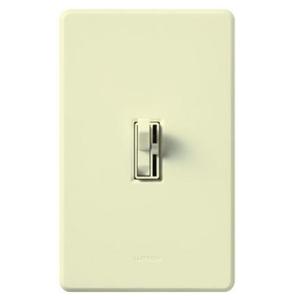 Lutron AYFSQ-F-LA Fan Control, Toggle Switch, 1-Pole/3-Way, 1.5A, 120V, Light Almond