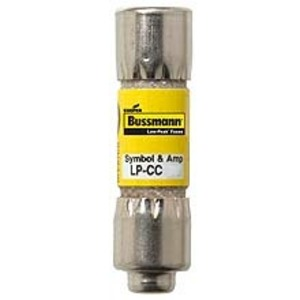 "Eaton/Bussmann Series LP-CC-2 Fuse, 2 Amp, Class CC, LOW-PEAK, Time-Delay, 13/32"" x 1-1/2"", 600V"