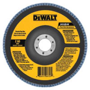 """DEWALT DW8302 Flap Disc, Diameter: 4"""", Arbor Size: 5/8"""", Grit Size: 260."""