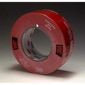 3M 3900-RED Red Duct Tape, 48mm x 54.8m Long