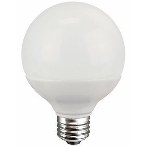 TCP LED5G25D30KF LED Lamp, Dimmable, G25, 5W, 120V, Medium Base