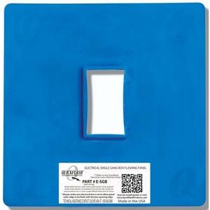 "Quickflash E-SGB Flashing Panel, 1-Gang, Size: 2 x 3.5"", Blue, Non-Metallic"