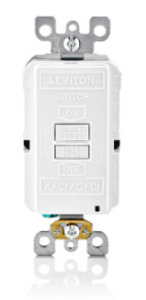 Leviton AGRBF-I AFCI/GFCI Receptacle, 20A, 125V