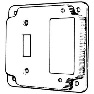Mulberry Metal 11436 4-IN.SQ.SWITCH/GFCI COVER