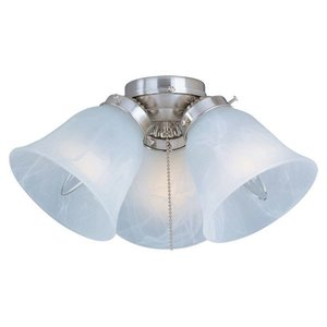 Maxim Lighting FKT207SN 3-Light Ceiling Fan Light Kit, 60W Incandescent