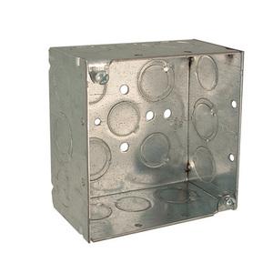 Hubbell-Raco 232RAC 4SQ BOX WELDED 2-1/8 DEEP 1/2-3/4 TKO