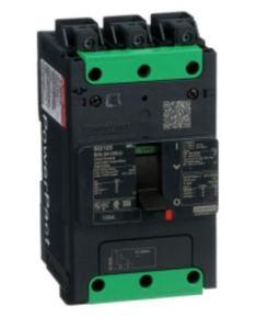 Square D BGL36125LU Breaker, Molded Case, 125A, 600Y/347VAC, 3P, 18kAIC, Everlink