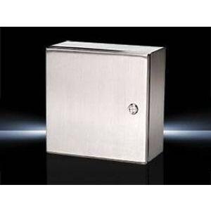 "Rittal 8018110 Junction Box, NEMA 4X, Hinge Cover, 5.9 x 5.9 x 3.9"", Carbon Steel"