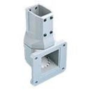 Hoffman CCS2WJVLG Wall Joint, Vertical, 45 x 60 mm, Aluminum/Gray