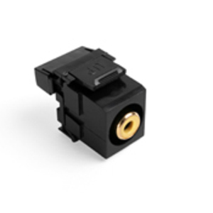 40735-RYE BLK QKPORT SNAPIN RCA TO 110