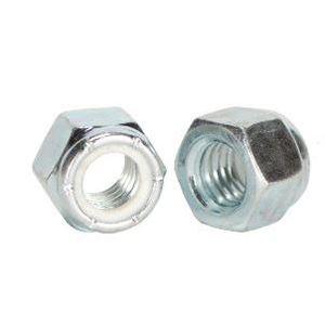 Copper State Nut & Bolt 08NICZ-025 Nylon Insert Hex Lock Nuts, Coarse Thread, Zinc, 1/4-20