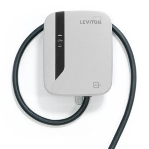 Leviton EVR40-B25 Evr-Green® e40 Charging Station, 40A, 208-240VAC