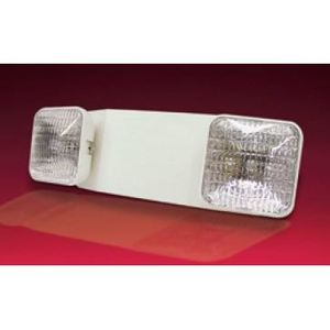 Lightalarms LCA-2SQR Emergency Light, Incandescent, 2-Head, 12W, 6V, White *** Discontinued ***