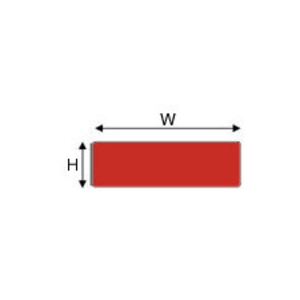 "Brady THTEP-173-593-.5RD Raised PanelLabel, Red, 1"" H x 2"" W"