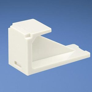 Panduit CMBWH-X Snap-In Blank, Mini-Com, White, Package of 10