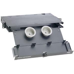 Panduit FRME1 Fiber Enclosure, Rack Mount, for 3 FAP/FMP Adapter Panels, Black