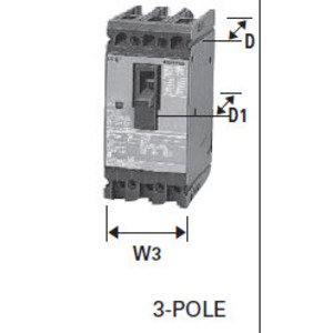 Siemens ED43B060 Breaker, Molded Case, 3P, 60A, 480VAC, Type ED4