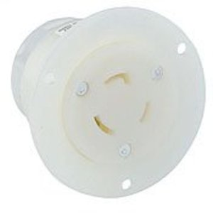 Leviton 2316 Locking Flanged Outlet, 20A, 125V, 2P3W