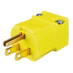 HBL5965VY VALISE PLUG 15A 125V YELLOW